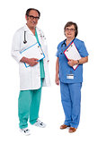 Two medical professionals standing together