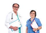 Smiling health care professionals