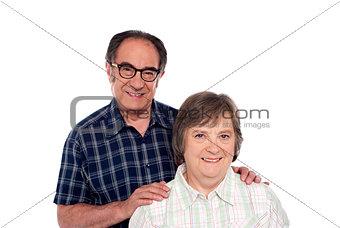 Portrait of smiling matured couple