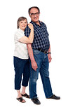 Full length shot of an aged couple