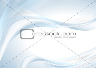 Abstract shiny light blue wave background