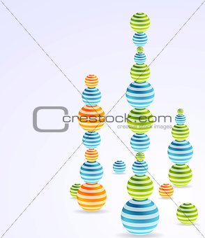 Abstract vector Christmas balls background