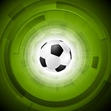Sport tech football background