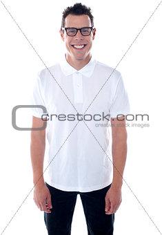 Attractuve young caucasian male