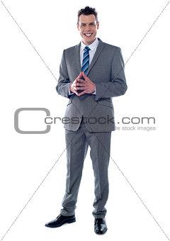 Portrait of an elegant young businessman