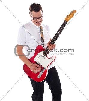 Smart rock guitar player at his best