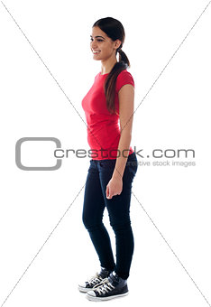 Portrait of confident young teenager