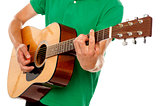 Cropped image of a man playing guitar