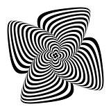 Design monochrome whirlpool motion background