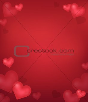 Abstract background with heart theme 3