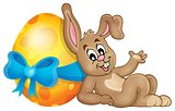 Bunny with Easter egg theme image 1