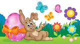 Bunny with Easter egg theme image 3