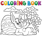 Coloring book Easter rabbit theme 2