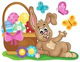 Easter image with cute bunny theme 1