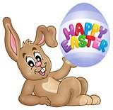 Easter image with cute bunny theme 3