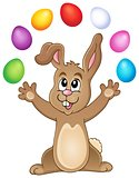 Young bunny with Easter eggs theme 3