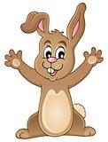 Young happy bunny