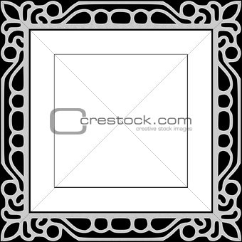Black Ornate Pattern Photo Frame