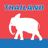 Beautiful elephant symbol of Thailand