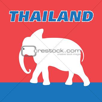Beautiful elephant symbol of Thailand