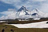 Kamen Volcano, Kliuchevskoi Volcano, Bezymianny Volcano. Kamchat