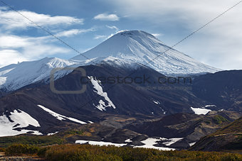 Avachinsky Volcano - active volcano of Kamchatka Peninsula