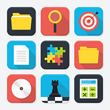 Office themed squared app icon set