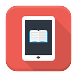 E book app icon with long shadow