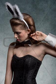 charming brunette playgirl