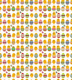 Seamless white pattern with easter eggs