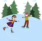 Iceskating kids