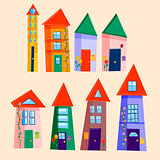 Set of cute houses