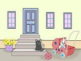 Toys and Kitten.
