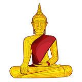 Decorative buddha statue