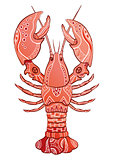 Decorative isolated lobster