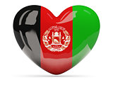 Heart shaped icon with flag of afghanistan