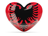 Heart shaped icon with flag of albania