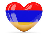 Heart shaped icon with flag of armenia