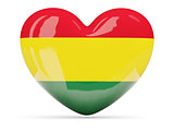 Heart shaped icon with flag of bolivia