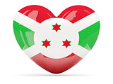 Heart shaped icon with flag of burundi