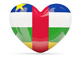 Heart shaped icon with flag of central african republic