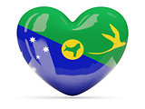 Heart shaped icon with flag of christmas island