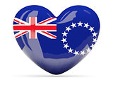 Heart shaped icon with flag of cook islands