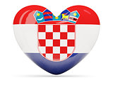 Heart shaped icon with flag of croatia
