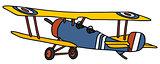 Vintage military biplane
