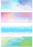 Abstract geometrical banner