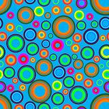 colored circles seamless pattern