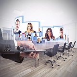 Videoconference business team