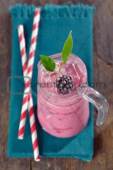 Blackberries smoothie drink