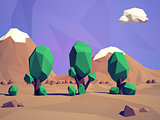 low-poly   landscape